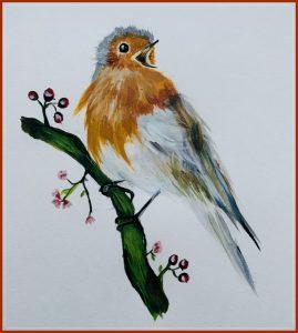 ancita mary jose -bird drawing - think with ashi